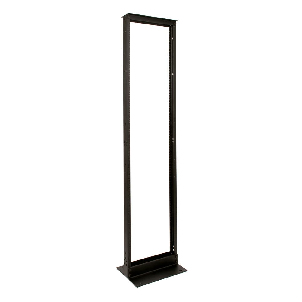 "Relay Rack 45U Black Finish 12-24 Threads 23"" Wide"