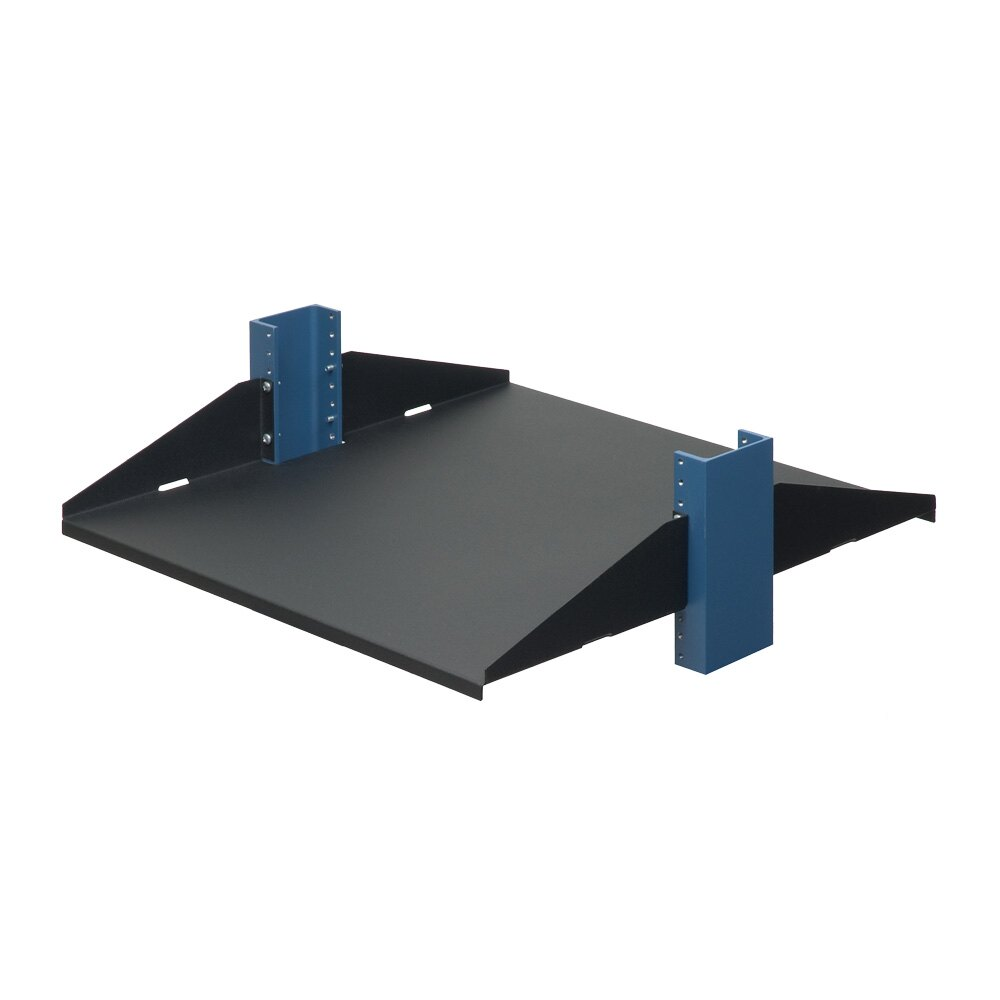 "2U 20"" 2 Post Shelf, Solid, Flanges Up"