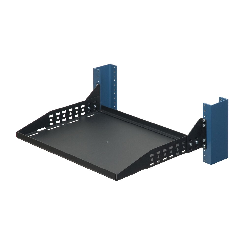 2U Configurable 2 Post Rack Shelf, Solid 13""