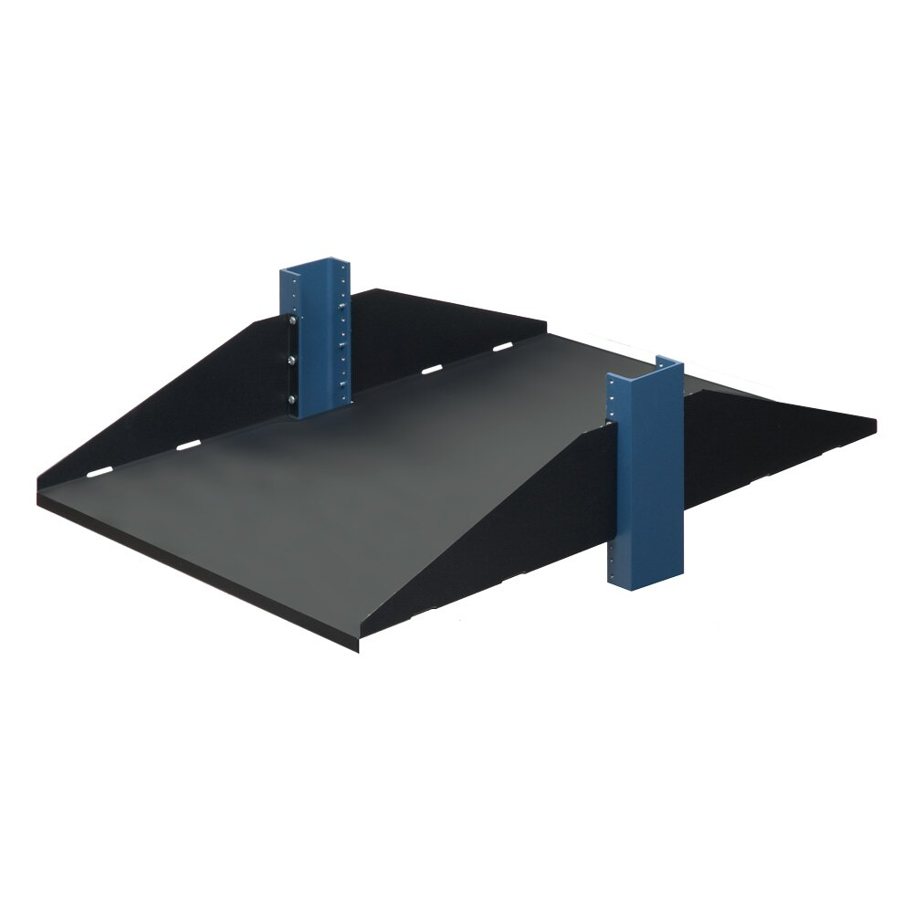 3U 2 POST SHELF, SOLID, FLANGES DOWN, 29""